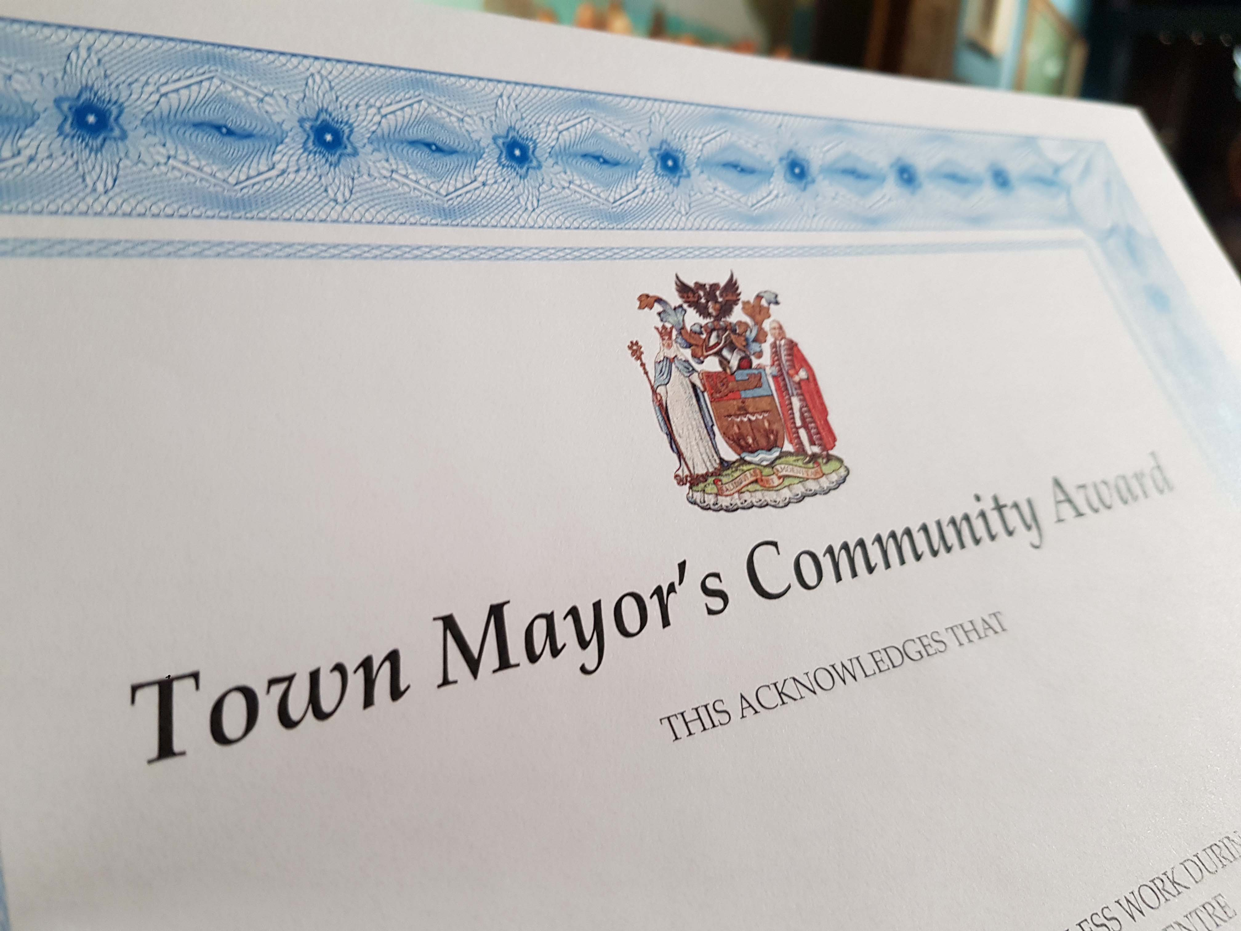 Town Mayors Community Awards